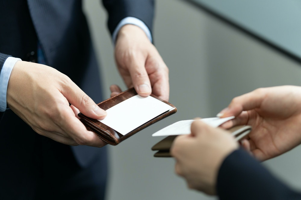 Image of exchanging business cards