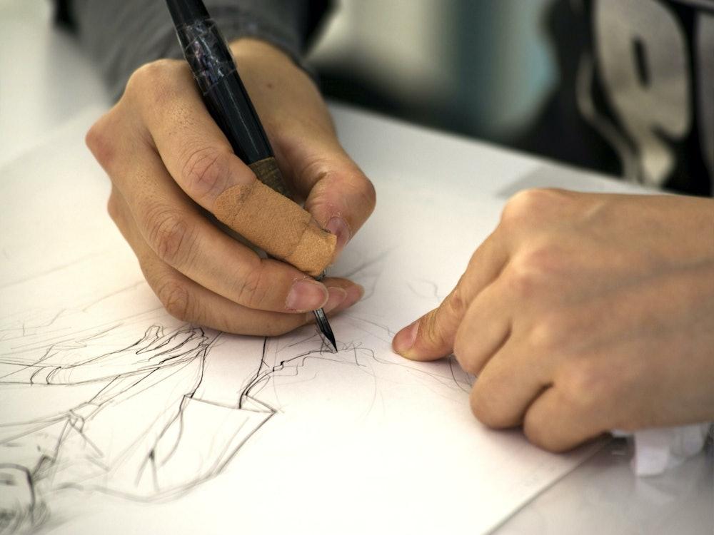 Image of a manga artist